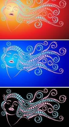 女性花纹图片