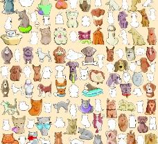 各种猫狗矢量素材图片