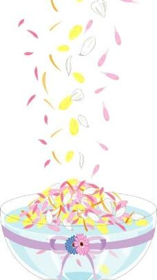 花瓣水盆图片