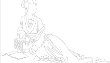 古典贵女人服饰画法图片