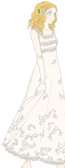卡通婚纱女孩2图片