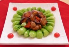 双菇菜心图片