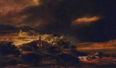 卢西恩·佛洛伊德风景油画作品图片