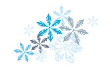 精品 蓝色 雪花图片