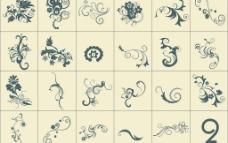 矢量欧式花边底纹集合2图片
