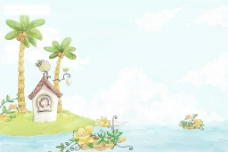 {夏之爽}《背景素材.儿童模板.海滩.夏天素材》10图片