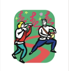 跳舞打鼓扭秧歌图片
