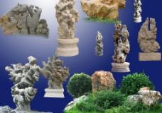 PS后期各種石頭假山分層三圖片