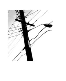 云彩,电线杆