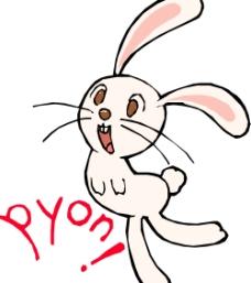 矢量 可爱兔子PYON!图片