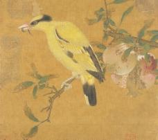 榴枝黄鸟图 毛益图片