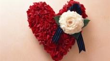 心形的玫瑰花图片