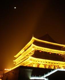 西安鼓楼夜景图片