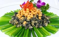 蒜苔螺肉图片