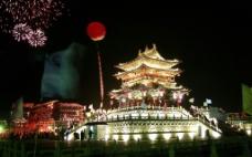 榆次老城夜景图片