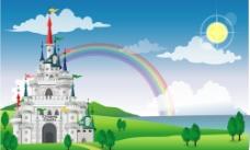 城堡彩虹图片