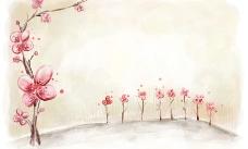 梅花背景图片