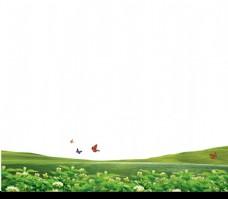 草地和蝴蝶