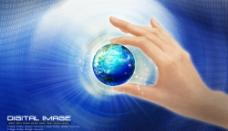 手中地球图片