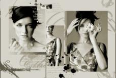 杂志中的一页PSD图片