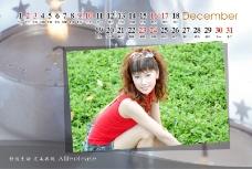 日历写真模板0099