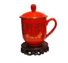 奥运中国红瓷器图片