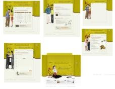 综合6个家庭主题公司主页-韩国模板图片