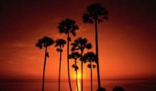 黄昏海岸图片