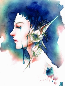 blue rain 兰色的泪图片