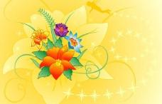 炫丽花纹花卉图片