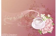 浓情咖啡矢量图图片