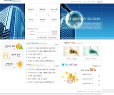 简约风格的企业模版  5psd图片
