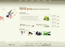个人博客模版 素色 4PSD图片