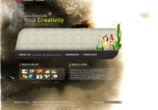 水墨风格艺术模版 4PSD 1FLA源文件图片
