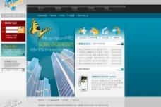 韩国蓝色风格企业模版 5PSD图片
