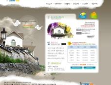 水墨风格房地产网站模版 6PSD图片
