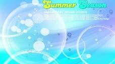 韩国风格夏日背景图片