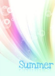 韩国风格夏日背景封面图片