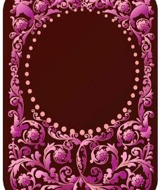 华丽紫色欧式花纹图片