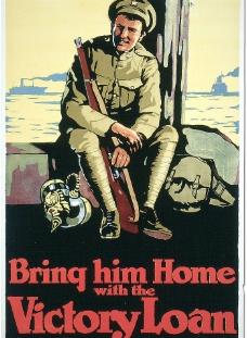 加拿大1918年战争海报图片